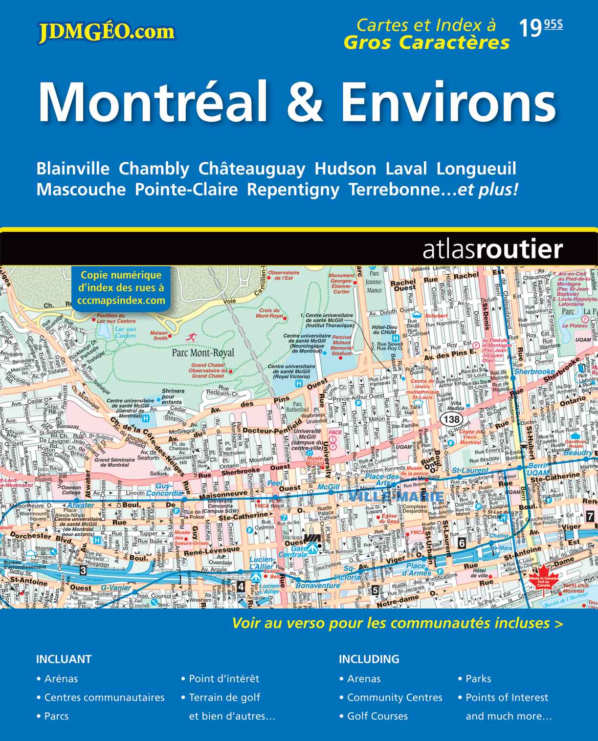 CCCMaps Montreal and Area Map Book distributed by MapArt Publishing Corp