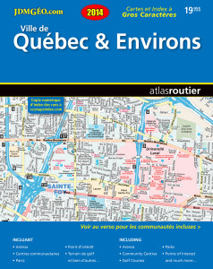 Quebec-City street guide distributed by MapArt publishing corporation Canada