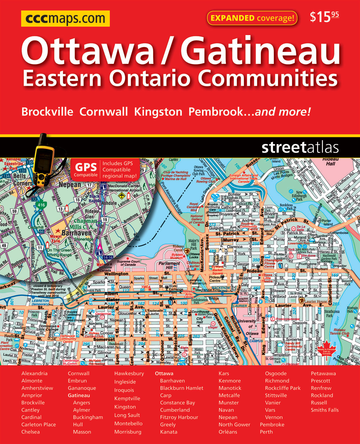 Ottawa CCCMapscom Canadas Map Company