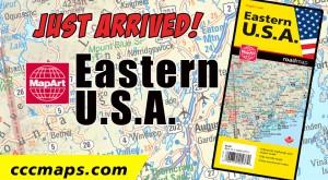 MapArt Eastern U.S.A. Folding Map