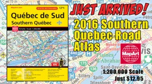 New! MapArt Southern Quebec Road Atlas