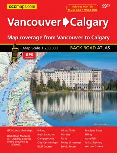Explore the West with the Vancouver to Calgary Back Road Atlas