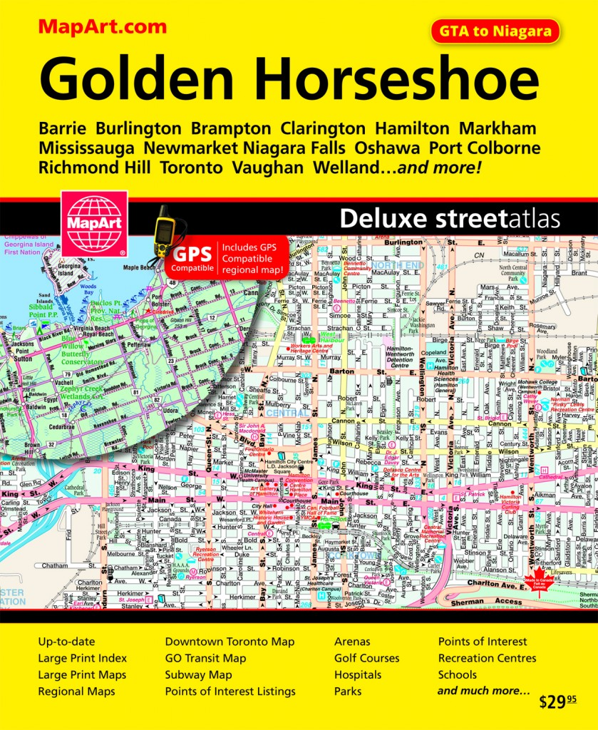 Golden Horseshoe Guide by MapArt Publishing