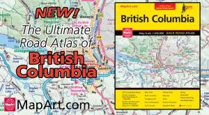 MapArt British Columbia Road Atlas for 2017