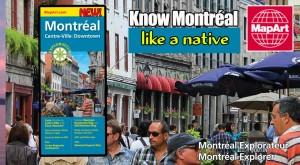 MapArt Montreal Downtown Explorer