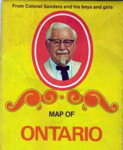 Friday Flashback: Colonel Sanders Map of Ontario